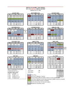 Dcps Calendar 2019 2018 2019 DCPS CALENDAR!   News and Announcements   Theodore